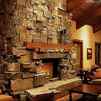 Flagstone Fireplace western wisconsin masonry services - haugen stone & concrete